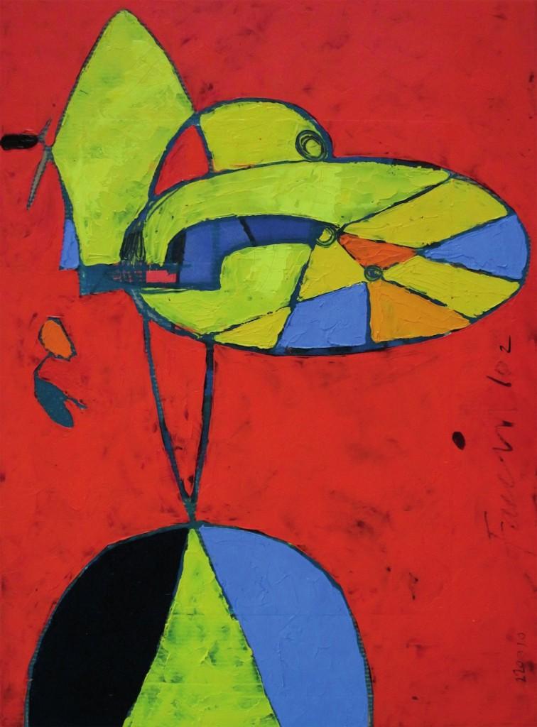 Bicicletta Rossa, 2002<br/>Olio su tela, 60 x 45 cm