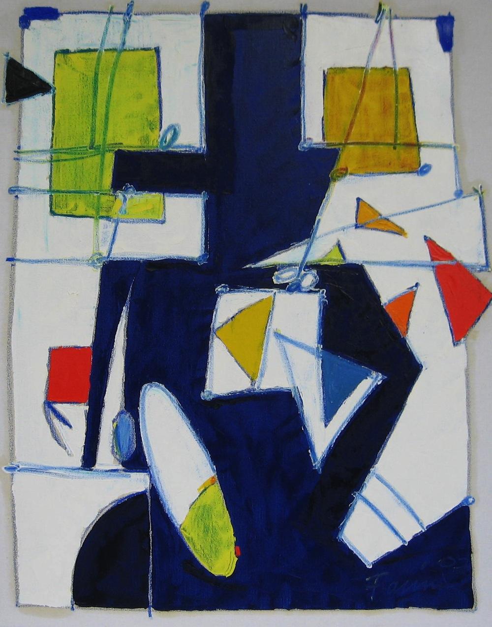Marina, 2004<br/>Olio su tela, 80 x 90 cm