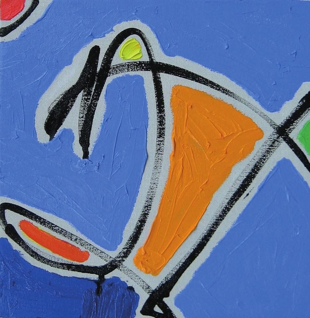 Manubrio, 2005<br/>Olio su tela, 60 x 60 cm