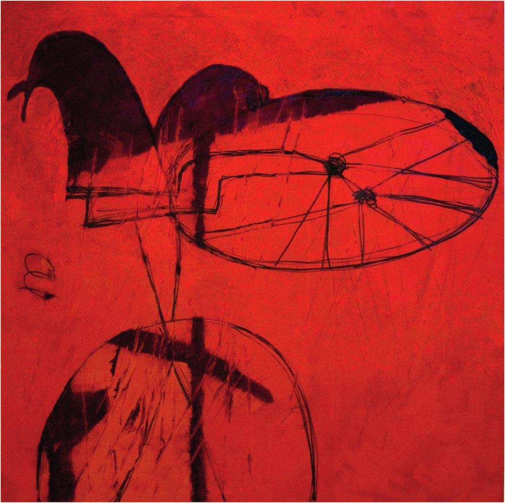 Bicicletta, 2007<br/>Olio su tela, 100 x 100 cm