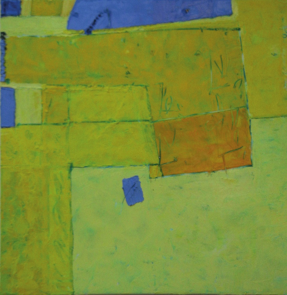Giallo, 2009<br/>Olio su tela, 90 x 90 cm