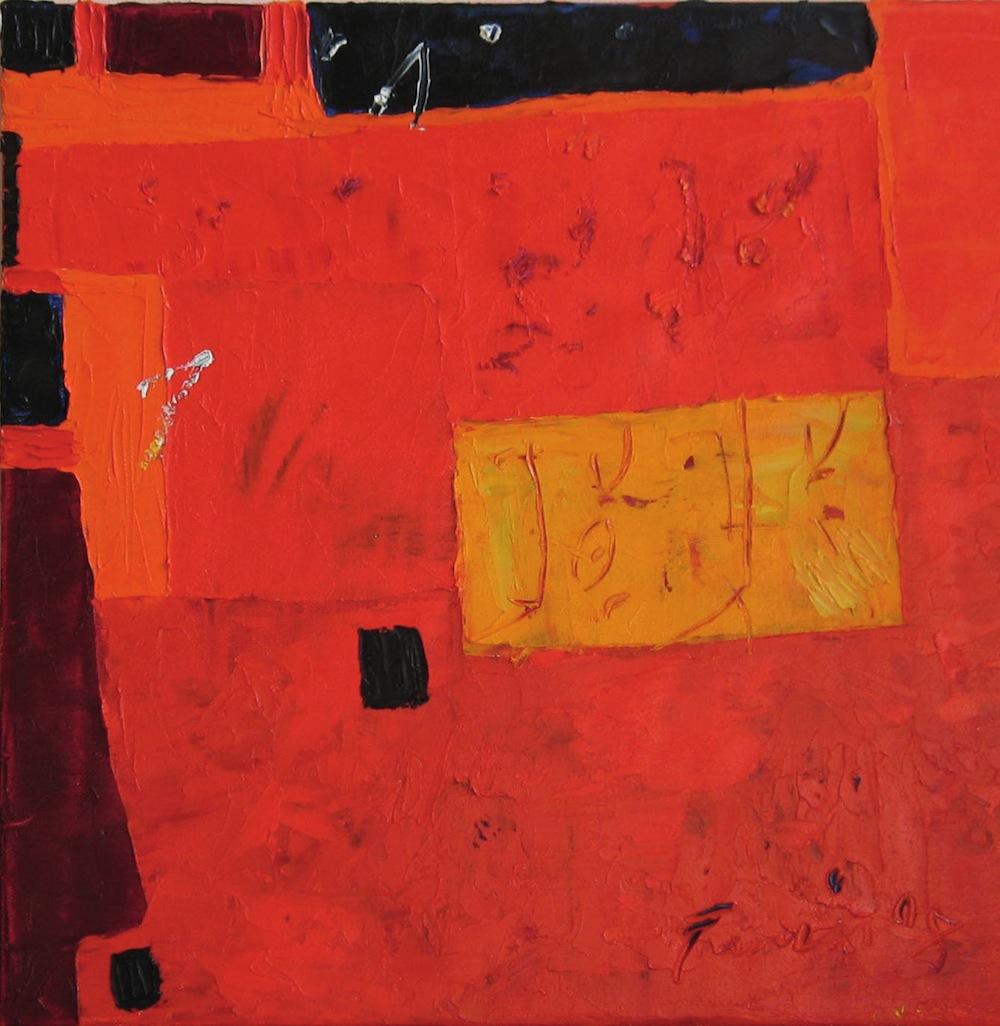 Rosso, 2009<br/>Olio su tela, 120 x 120 cm