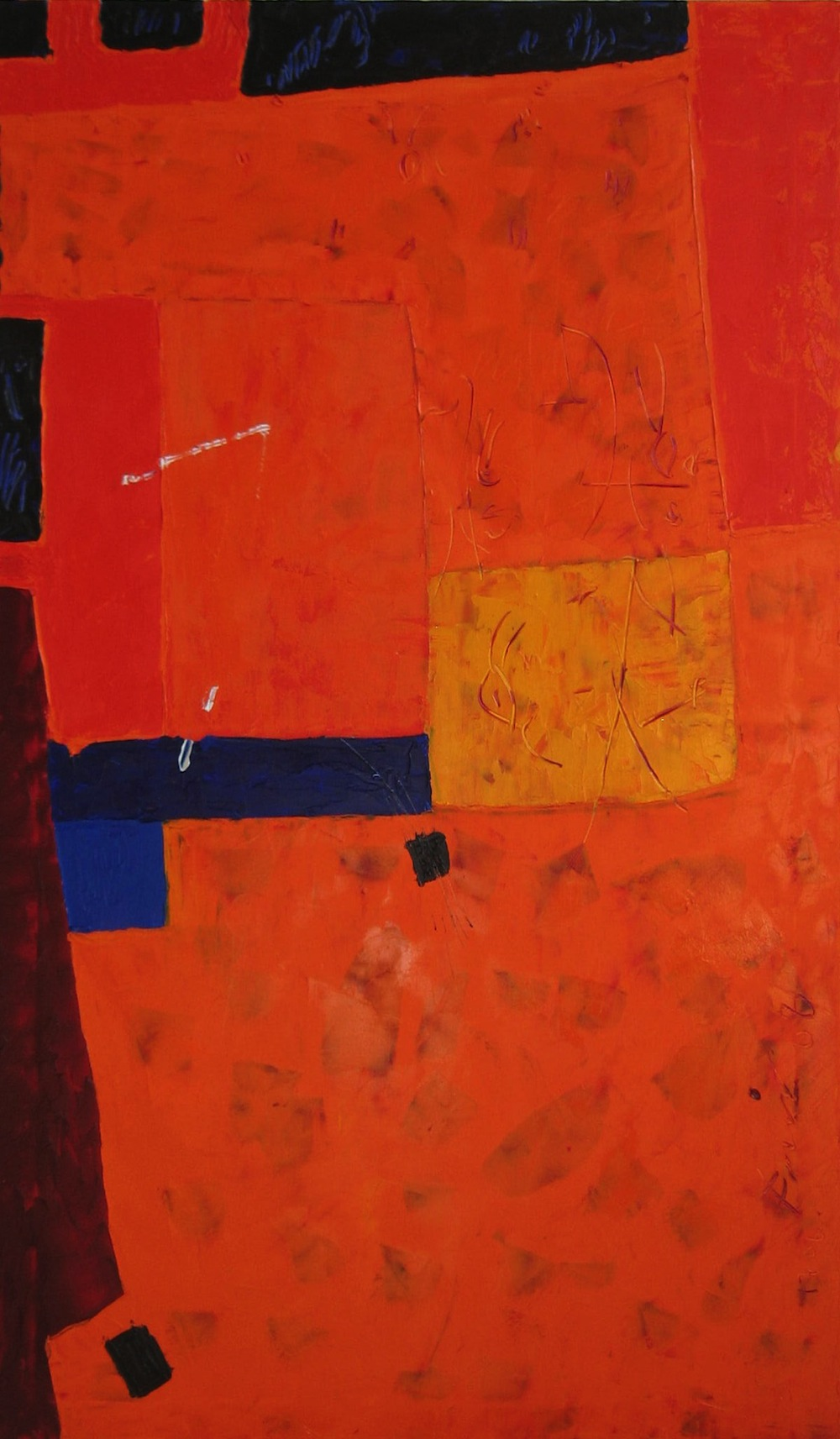 Arancio, 2009<br/>Olio su tela, 80 x 100 cm