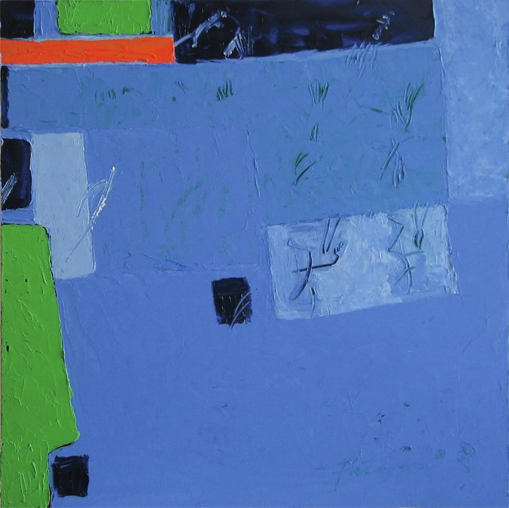 Blu-verde, 2009<br/>Olio su tela, 70 x 70 cm