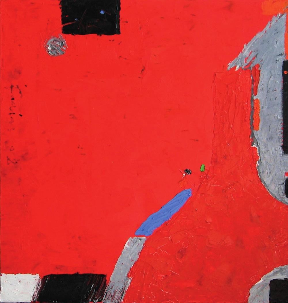 Rosso-grigio, 2011<br/>Olio su tela, 60 x 60 cm