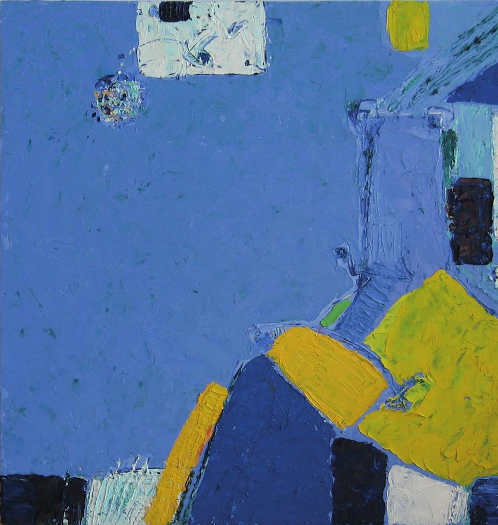 Azzurro-giallo, 2011<br/>Olio su tela, 60 x 60 cm