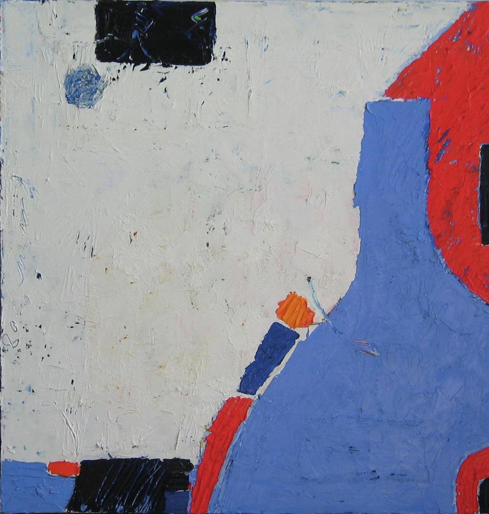 Azzurro-rosso, 2011<br/>Olio su tela, 60 x 60 cm