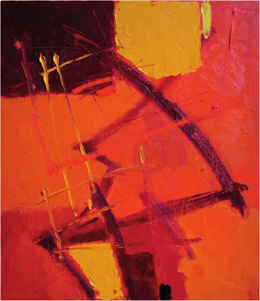 Rosso-giallo, 2012<br/>Olio su tela, 70 x 80 cm
